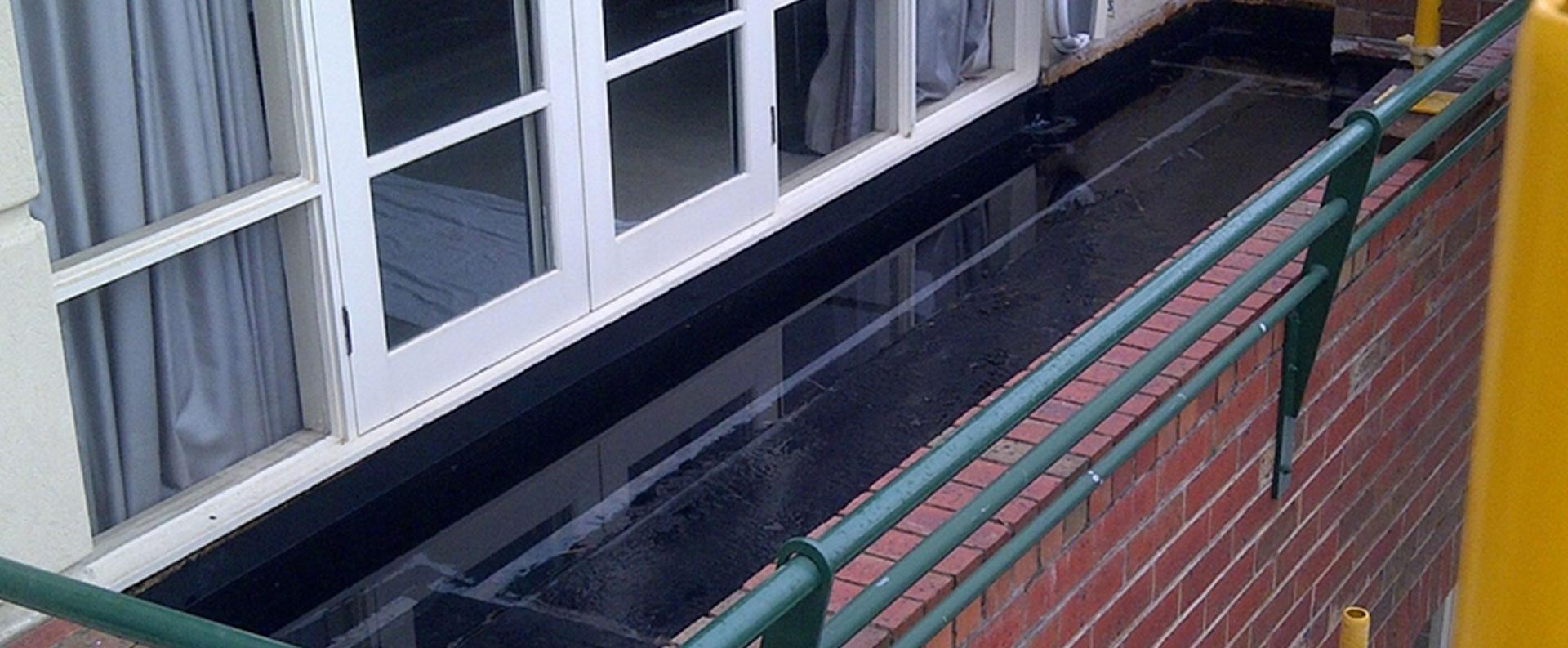 Repair and waterproof leaking balconies, terraces, planter